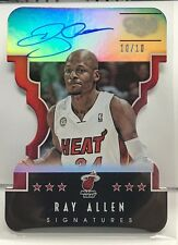 Ray Allen 2015-16 Panini GALA Signatures Directors Die-Cut on-card Auto #d 10/10