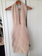 Commoda Nude Halter Neck Bandage Dress - Size 6/small