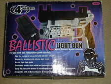 SONY PLAYSTATION 1 PS1 PS2 BALLISTIC LIGHT GUN BLASTER PISTOL RELOAD PEDAL Boxed