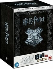 Harry Potter: The Complete 1-8 Film Collection Limited Edition Blu-ray & DVD NEW