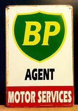 BP Motor Service Oil&Gas Small METAL SIGN vtg Retro Garage Wall Decor 16x12 Cm