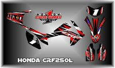 HONDA CRF250L CRF SUPERMOTO DUAL SPORT  SEMI CUSTOM GRAPHICS KIT PEDRO