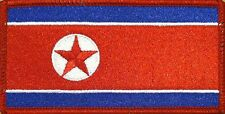 NORTH KOREA FLAG Iron-on PATCH KOREAN DPRK KING JONG UN RARE RED Border #03