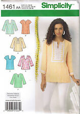 Pullover Tunic Top Neck Sleeve Var Simplicity Sewing Pattern Size 10 12 14 16 18