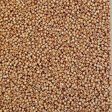 10grams! Perm Finish Galv Rose Gold Toho Size 15 (1mm!) Seed Beads - No. PF551