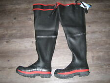 Skellerup SUPER SAFETY WADERS size UK 6-12 (EUR 40-47) watstiefel con cappuccio in acciaio