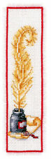 Vervaco Cross Stitch Kit Quill And Ink Bookmark