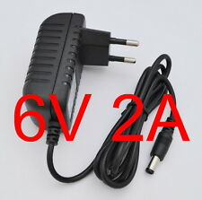 AC Switching power supply DC 6V 2A Adapter 2000mA Charger EU plug 5.5mm x 2.1mm