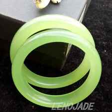 64mm Vintage Jade Bangle Natural Icy Green Jadeite Bracelet 100% Hand-carved New