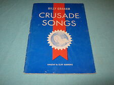 """BILLY GRAHAM 1960 CRUSADE SONGS from """"THE HOUR OF DECISION"""" COMPILED BY BARROWS"""