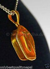 Gau Anhänger kleines Amulett Dharma Tibetisches OM Buddha Gold  45