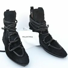 BALENCIAGA New sz 39  9 Designer Womens Ankle Fur Winter Shoes Boots black $1425