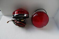 "Lights Healey Style Tail lamp Turn Signal  Red 3.25"" Round Cobra Replica AC ACE"