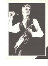 DAVID BOWIE live with a sax magazine PHOTO/ Poster/clipping 11x8 inches