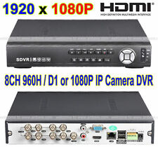 ALL D1 Recording H.264 1080P Full HD 8CH HDMI VGA Video Output Audio Input DVR
