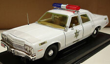 "1974 Dodge Monaco Hazzard County Police Car Corrected ""light bar 1:18 Ertl 21956"