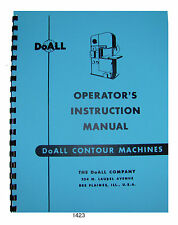 DoALL Bandsaw Models 16-2, 26-2, 36-2, 60-2 Operation-Maintenance Manual  *1423