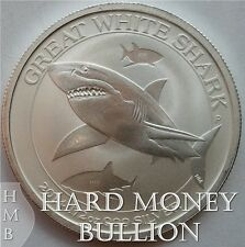 2014 Perth Mint 1/2 oz Silver Great White Shark Australian Coins