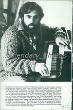 Film Director Francis Coppola at the Piano Original News Service Photo