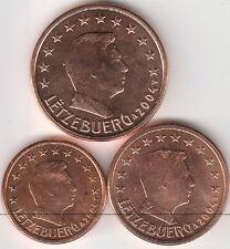 lot 1,2,5 cts cent euro Luxembourg 2004 qualité UNC !!! voir scan