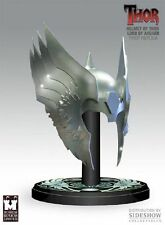 NEW SIDESHOW THUNDER GOD THOR LORD OF ASGARD HELMET REPLICA HAMMER STATUE FIGURE