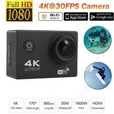 F60 4K 30fps 12MP 170°A+ HD Wide-angle Lens WIFI Sports Action Camera DVR 30M