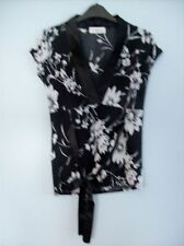 Top Ladies Floral Black & White  by Catch One Clothing London Size Small to Med
