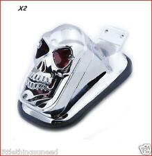 2x,Custom,skull,stop,taillight,vw,beetle,empi,baja,beach,buggy,trike,project,