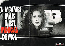 PUBLICITE ADVERTISING 074  1992  MORGAN  pret à porter CARLA BRUNI  ( 2 pages)