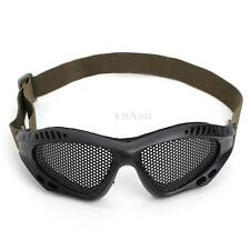 Airsoft Tactical Outdoor Goggles Glasses Lens Eye Protection Metal Mesh Mask