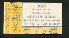 1985 Heart concert ticket stub Maple Leaf Gardens Toronto These Dreams