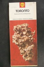 1972 Toronto  street  map shell gas oil Canada Hamilton fossil cover
