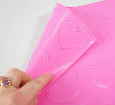 *PINK* HEARTS and KITTY / TEDDY Macaron Macaroon Silicone Baking Mat Mould Mold