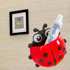 On Sale Cute Cup Pocket Wall Sucker Toothbrush Ladybug Bathroom Holder Organizer