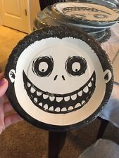 "Disney Nightmare Before Christmas 7"" Round Paper Party Plates 8 Set Barrel NEW"