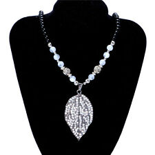 Women's Vintage Leaf Fashion Jewelry Hot Charm Crystal Pendant Necklace NEW