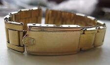 GENUINE VINTAGE ROLEX BUBBLEBACK GOLD PLATED BRACELET BAND RIVETED 19 mm