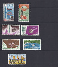 FRENCH POLYNESIA 1965-66 7 different sets (Scott C38-44)  VF MLH