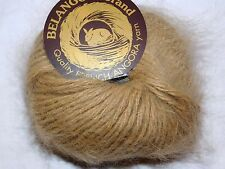 LT CAMEL 1 Skein Galler BELANGOR 100% ANGORA Rabbit Fur ULTRA-SOFT Luxury Yarn
