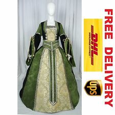 MEDIEVAL RENAISSANCE TUDOR WEDDING HANDFASTING LARP GOWN DRESS COSTUME (19H)