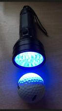 Golf Ball Finder  Torch - 50 Led Low Frequency Bulbs - FREE BATTERIES