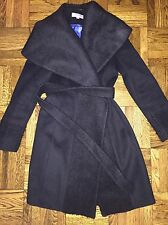 Calvin Klein Black Wrap Coat Size 2