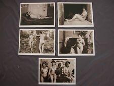 Lotto di 5 cartoline EROTISMO RISQUE NUDE riproduzioni inizio secolo OLD GIRLS