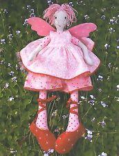 FAIRY FLOSS - Sewing Craft PATTERN - Soft Toy Felt Angel Rag Doll Bear
