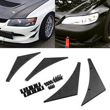 Universal Car Fit Front Bumper Splitter Fins Body Spoiler Canards Valence Chin