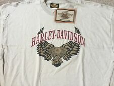 Harley Davidson Winged Engine beige Shirt NWT  Men's XXXL