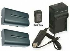 2 Batteries + Charger for Sony HXR-NX5U NX5U MVC-CD1000 FD5 FD7 FD51 FD71 FD73