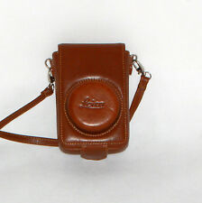 ORIGINALE LEICA lbc-01 D-LUX 4 Leica C FOTOCAMERA BORSA BAG LEATHER PELLE MARRONE
