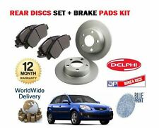 FOR KIA RIO 1.4 1.5TD 1.6  2005-  NEW REAR BRAKE DISCS SET + DISC PADS KIT