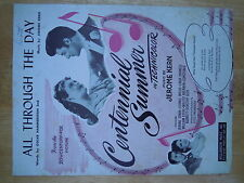 'All Through The Day' - song on sheet music from movie - 'Centenial Summer' 1946